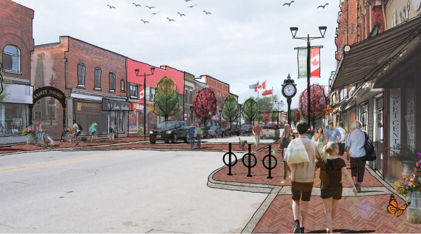 Stayner Main Street Revitalization Concept Drawing