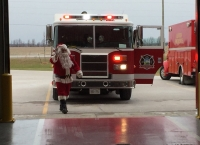 Santa at the Clearview Fire Hall